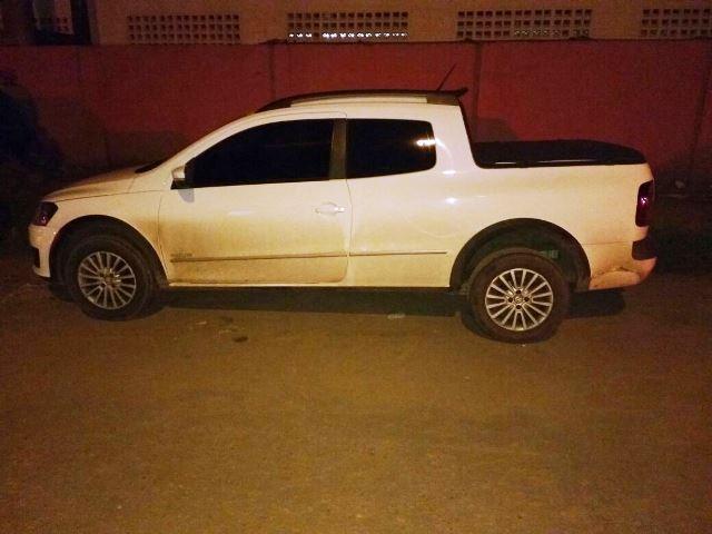 Carro tinha as mesmas características do carro original, mas policiais descobriram a falsificação. Foto: BRPM/Divulgação