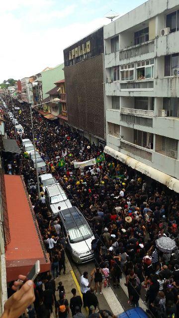 Protestos na Guiana Francesa estão afetando economia em Oiapoque. Foto: reprodução