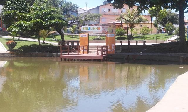 Lago está sem atração com os pedalinhos em manutenção. Fotos: Cássia Lima
