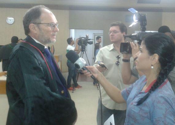 Procurador Nicolau Crispino acompanhou o julgamento. Foto: Giovana Santos