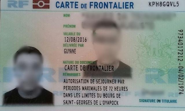 Carteira transfronteiriça de outro morador: até 72 horas de permanência no lado francês