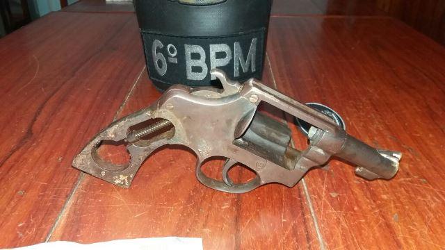 Arma usada pelo criminoso
