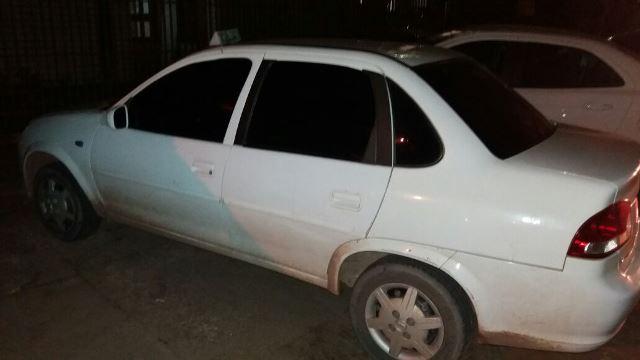Táxi usado pelo criminoso
