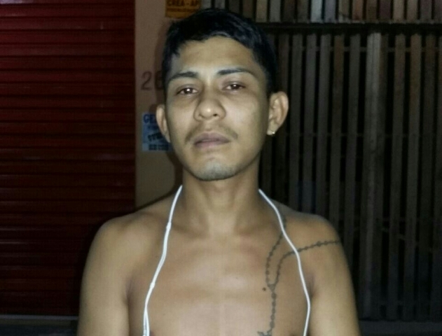 Kelvin Machado, de 21 anos, tem passagem por homicídio