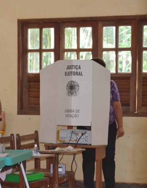 Poucos eleitores votaram pela mannhã