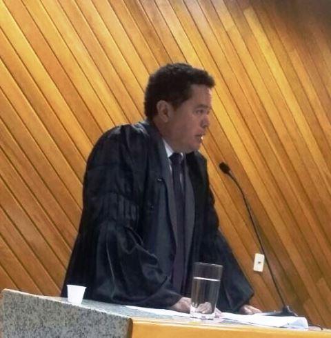 Advogado Marcos Roberto Marques fez a defesa oral durante o julgamento