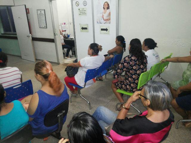 Atendimento na admissão da maternidade. Fotos: Cássia Lima