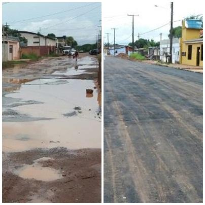 Antes e depois da rua. Fotos: André Silva