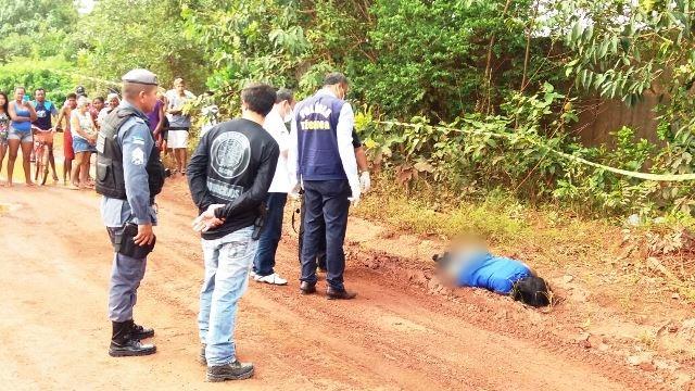 Perícia confirmou que mulher morreu com tiro na nuca. Fotos: Olho de Boto