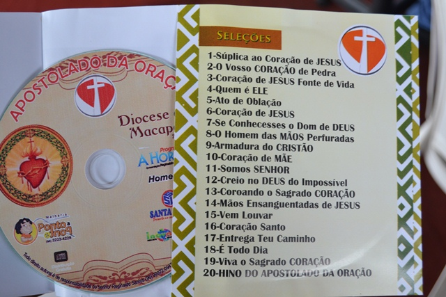 Contra-capa do CD gravado