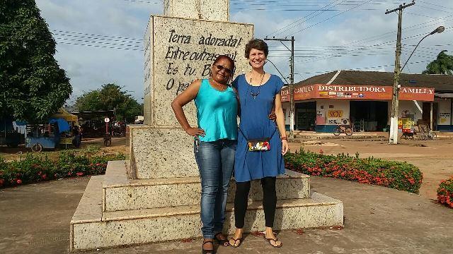 Com a prefeita Maria Orlanda no Marco Inicial do Brasil
