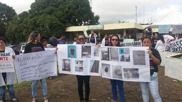 protesto hospital de santana
