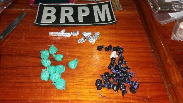 Parte das substâncias apreendidas pelo BRPM. Fotos: Leonardo Melo