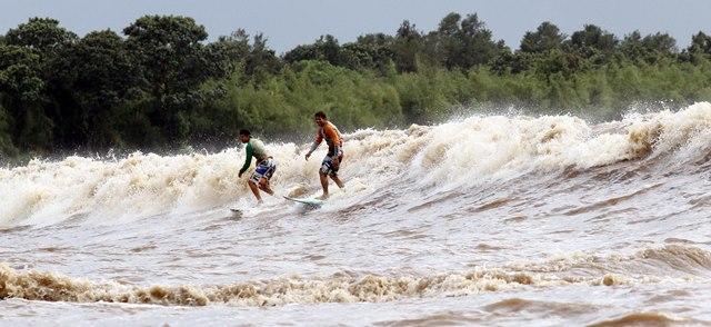 Surfistas confirmam: pororoca do Rio Araguari não existe mais