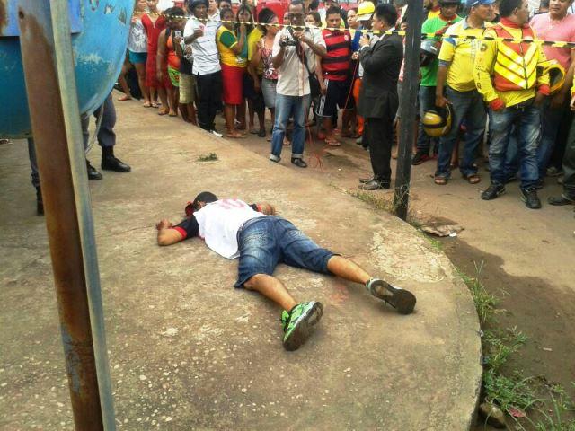 Policial à paisana impede assalto e fica ferido. Assaltante morreu na hora