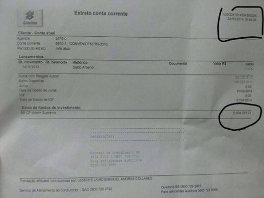 Sejusp cancela licitação e divulga extrato onde dinheiro do helicóptero está depositado
