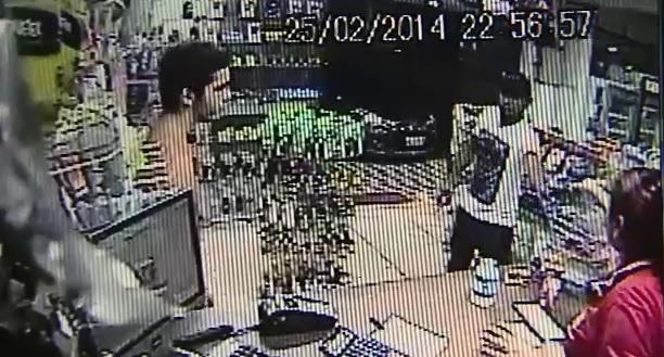 Filmado em assalto à farmácia é preso
