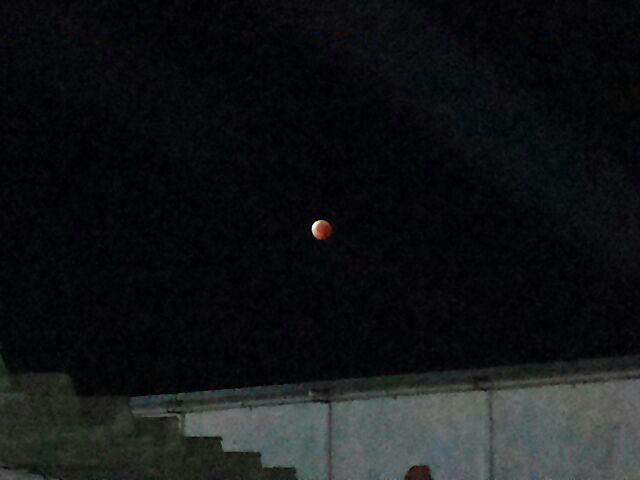 "Macapaenses fotografam a ""Lua de Sangue"""