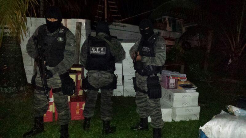 GTA e PF apreendem R$ 500 mil em contrabando no Rio Vila Nova