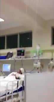 """VÍDEO mostra """"cachoeira"""" na UTI do Hospital de Emergência"""