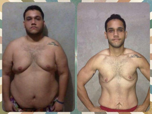 Homem perde 50 quilos em 8 meses