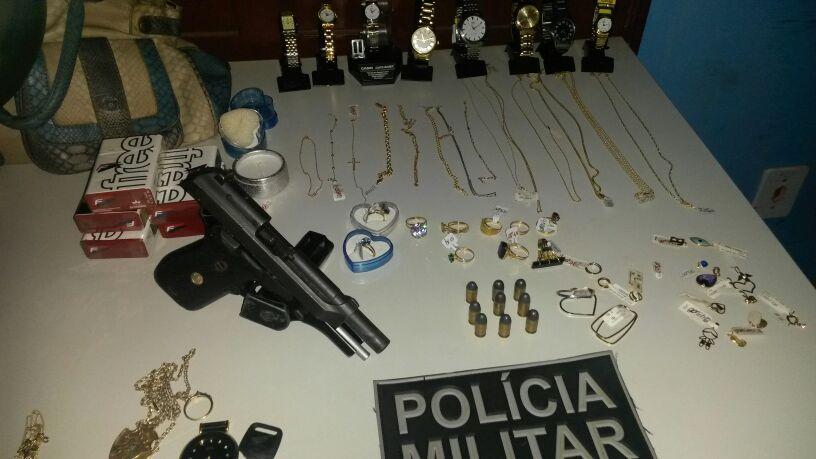 Assaltantes de joalheria são presos na BR-210