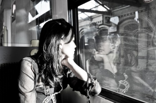 A janela do ônibus