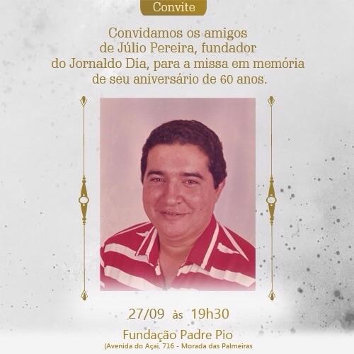 Missa marca 60 anos de Júlio Pereira