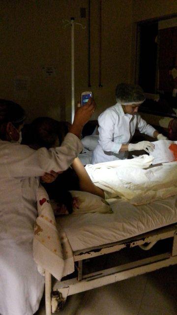 Funcionários do HE passam a madrugada cuidando de pacientes no escuro