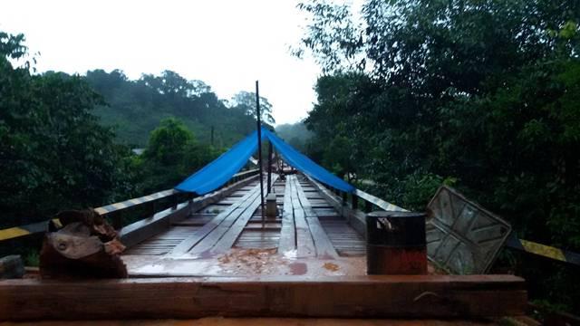 Ponte do Cassiporé: BR liberada, mas ameaça continua