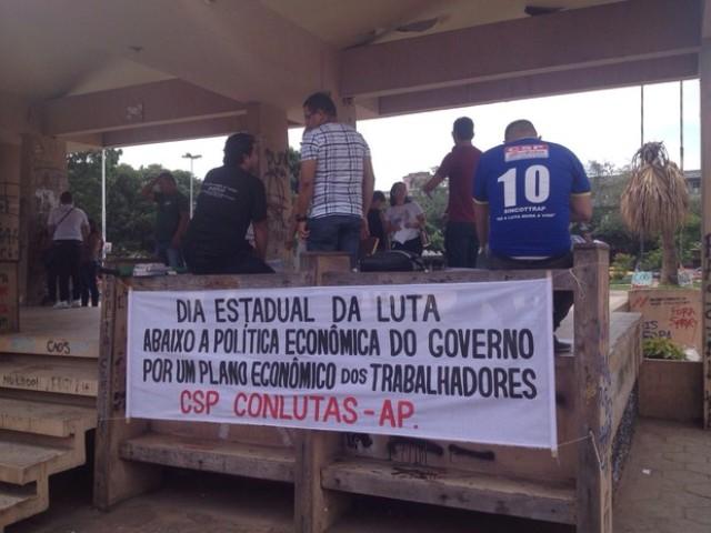 Salários: Vigilantes, rodoviários e funcionários do caixa escolar fazem protesto