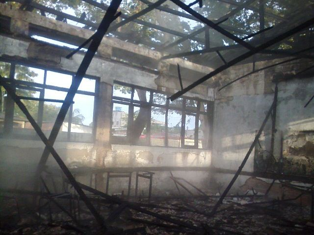 Prejuízos: Depois de incêndio, Império pode ser proibida de utilizar colégio