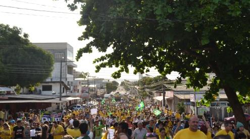 Macapá: Protesto contra Dilma termina sem incidentes