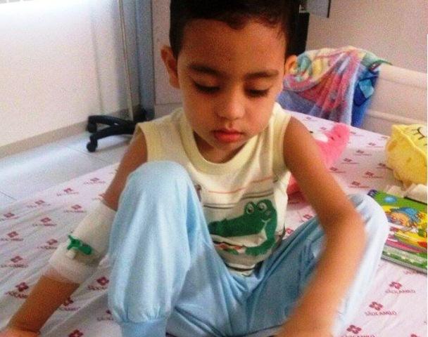 tumor: Luta pela vida aos 4 anos de idade
