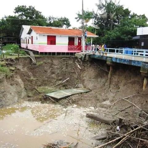destruição nas ilhas: Bailique em situação de emergência