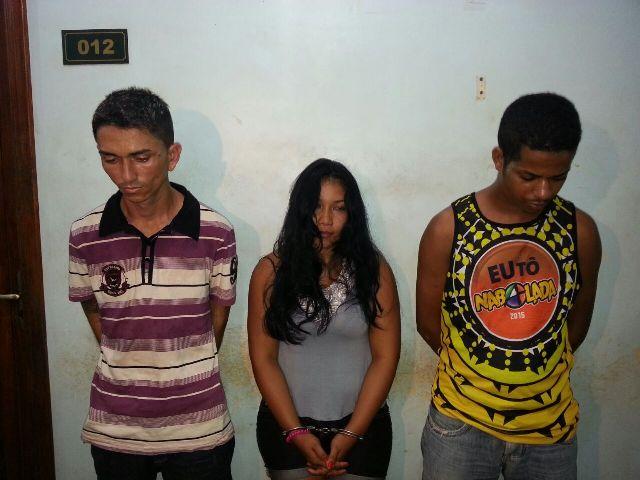 Presos: Trio entregava maconha em domicílio