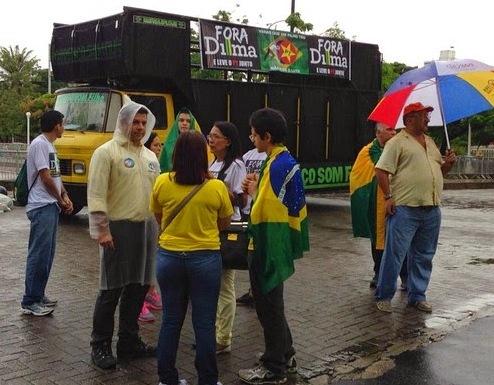 Nova data: Por causa da chuva, ato contra Dilma é cancelado no AP