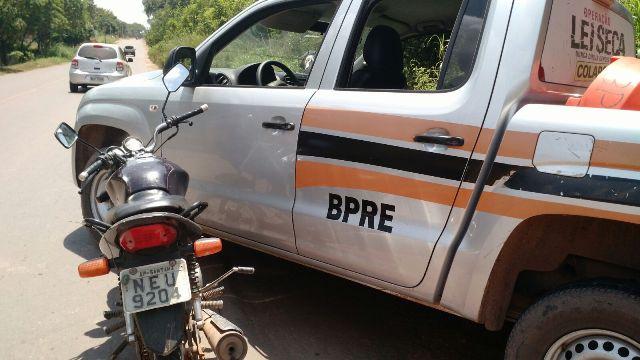 AP-440: BPRE recupera moto furtada do pátio da PRF