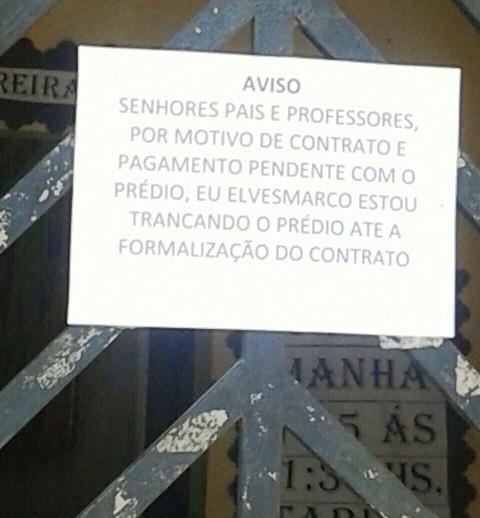em Santana: Escola fecha por falta de pagamento de aluguel