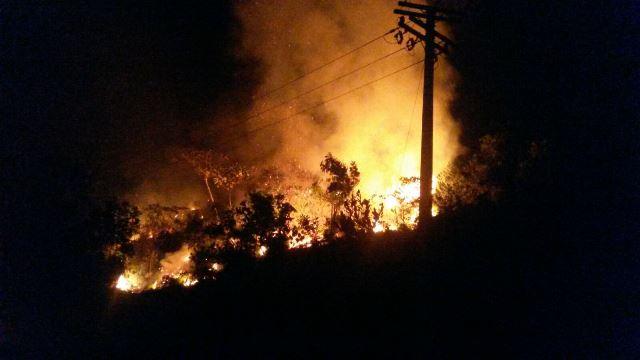 Serra do Navio: Corpo de Bombeiros manda equipes para combater incêndio florestal