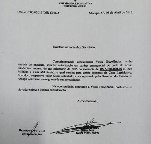 Contra-ataque: GEA diz que impeachment é pretexto e pede prestação de contas da Alap