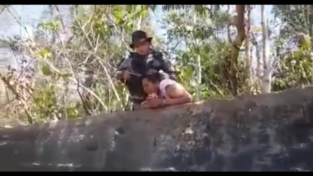 VÍDEO mostra detento flagrado na tentativa de fuga