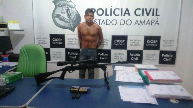 Com silenciador: Arma usada por matadores profissionais é apreendida em Oiapoque