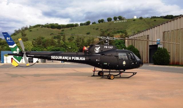 Em operação antes do Natal: Sejusp divulga primeira imagem de helicóptero do GTA