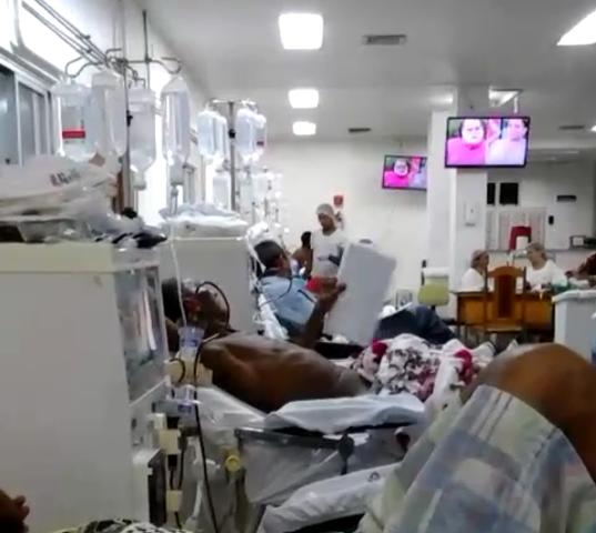 VÍDEO mostra sufoco de pacientes na Nefrologia