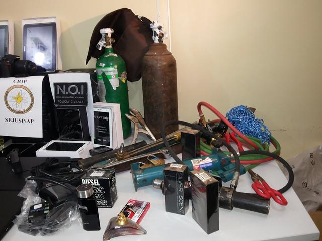 Quadrilha presa é especializada em arrombamento de caixas eletrônicos