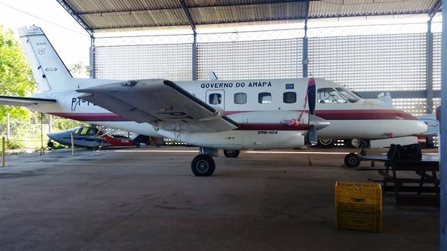 Avião do governo, avaliado em US$ 500 mil, está parado há 15 anos