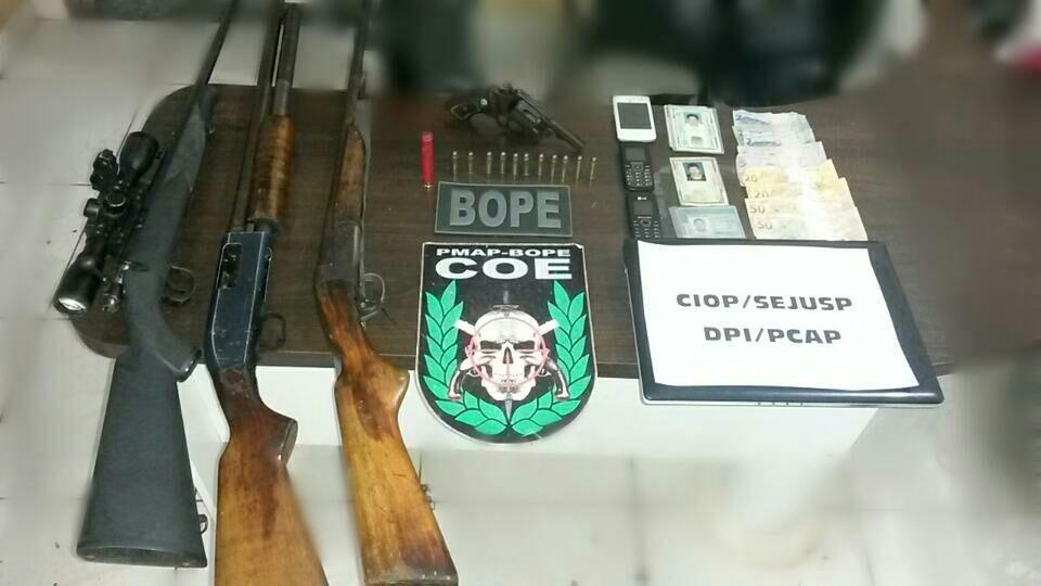 Polícia Militar apreende 4 armas de fogo em Porto Grande