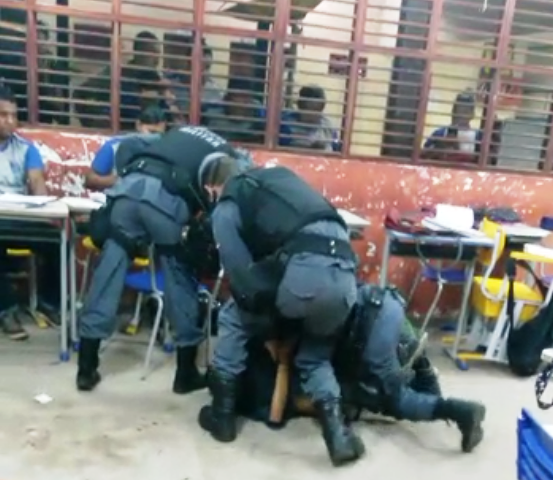 Escola se solidariza com sargento da PM agredido por estudante