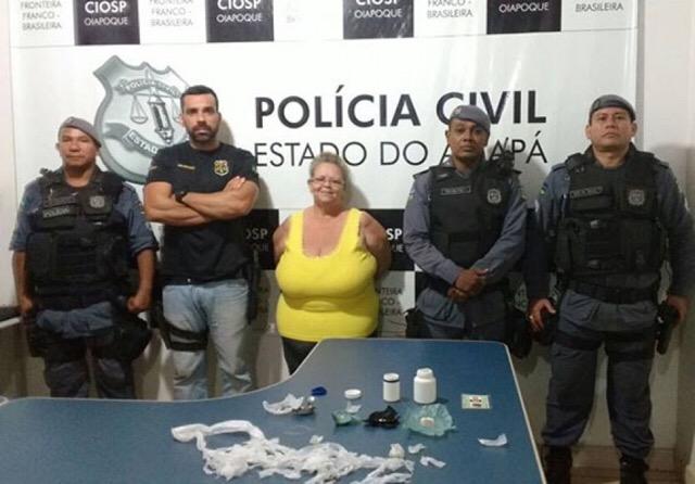 Suspeita de traficar drogas há 20 anos é presa em Oiapoque